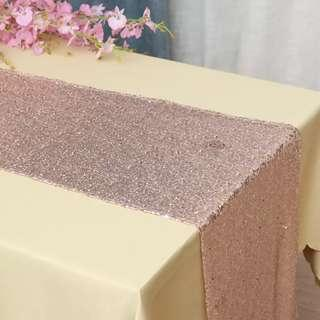 [Rent] Glitter Table Runner (Rose Gold/Gold/Silver)