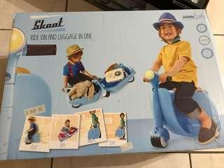 英國風兒童行李箱摩托車