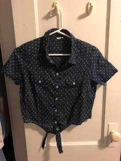 $5 CROP TOP WITH BOW - ABERCROMBIE