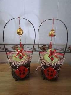 好彩頭竹籃(不含飾品,貼紙,內容物之水果,彩帶)