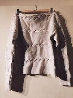 Babaton off shoulder 100% wool pullover sweater