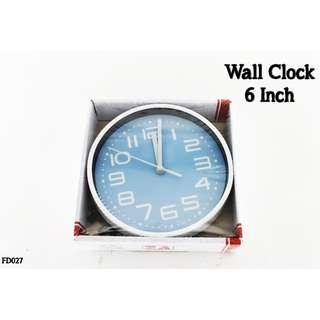 Wall Clock 6 Inch #FD027