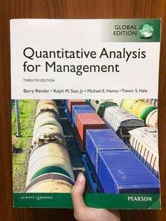 Quantitative Analysis for Management 管理數學