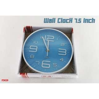 Wall Clock 7.5 Inch #FD029