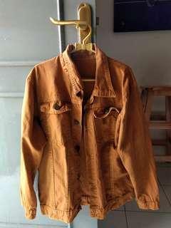 mustard jeans jacket