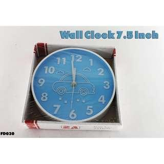 Wall Clock 7.5 Inch #FD030