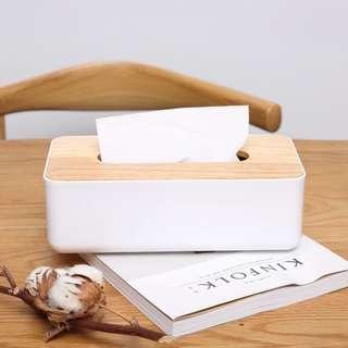 🚚 Wood Top Tissue Box