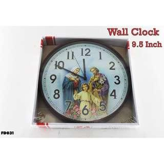 Wall Clock 9.5 Inch #FD031
