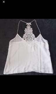 CO BNWT White Lace Halter Top