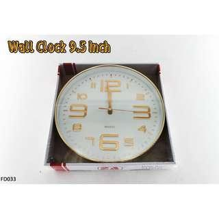 Wall Clock 9.5 Inch #FD033