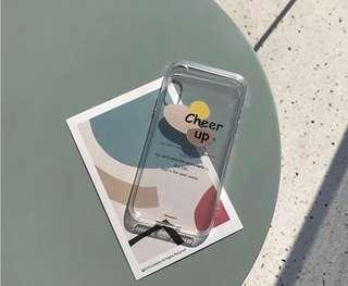🚚 iPhone X 色塊 設計 簡約 透明軟殼 ins風格 手機殼