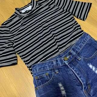 🚚 TEM ribbed striped top #Next30