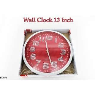 Wall Clock 13 Inch #FD035