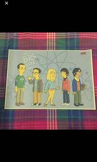 Sale 🌟 BN The Big Bang Theory In Cartoon Poster 42x30cm Springfield