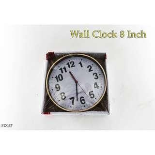 Wall Clock 8 inch #FD037