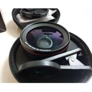 BC Master Smartphone Camera Lens kit Pro 58mm, 0.45x 110° wide-angle lens + 15x macro lens, Aluminum alloy, for iPhone, Android, Samsung Mobile Phones and Tablets