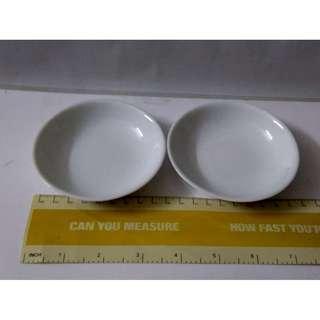 Plain Porcelain Sauce Plates