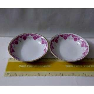 Twin Floral Sauce Plates