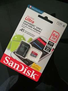 SanDisk Ultra micro SD Card 64GB with adapter