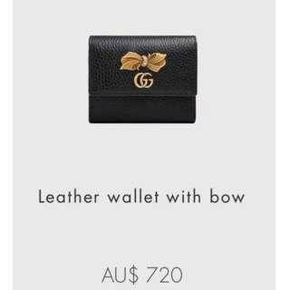 Gucci Leather Wallet With Bow