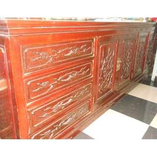 Red Wood Cabinet For Sale