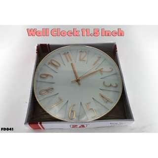 Wall Clock 11.5 Inch #FD041