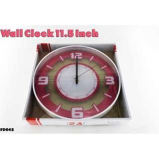 Wall Clock 11.5 Inch #FD042