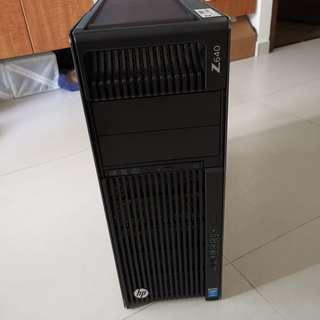 HP Z640 Workstation, Dual E5-2697v3 Xeon, 28 Cores 56 Threads CPUs, 128 GB DDR4 ECC Registered RAM, nVIDIA Geforce 1080 8 GB, 960GB Samsung SSD Enterprise High Write Endurance, 500GB HDD Bonus, Windows 10 Professional