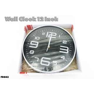 Wall Clock 12 Inch #FD043