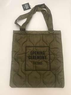 OPENING CEREMONY green army quilting tote bag
