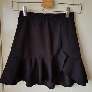 Mini Black Ruffled Skirt