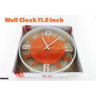 Wall Clock 11.5 Inch #FD044