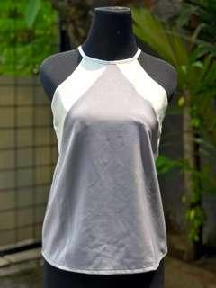 Sleeveless Top Grey