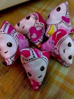 Pink bunnies  Rabbit bunny  Children Party Favours Five Stones old School Kampong Game   For Your Child, even boy  Racial harmony Month Flash sales   Offer while stocks last!  As featured