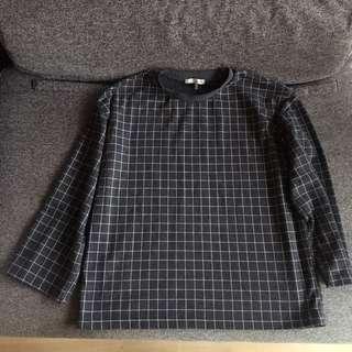 Oak and Fort Checkered Sweatshirt