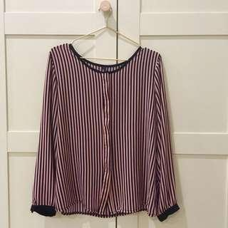 Stripe Pink Blouse