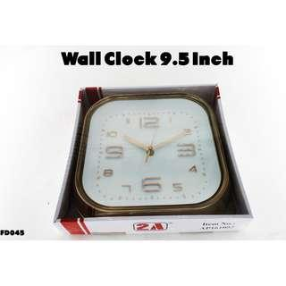 Wall Clock 9.5 Inch #FD045