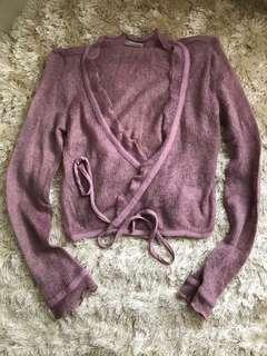 Baby purple cardigan