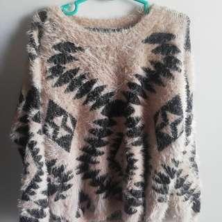 Aztec fuzzy sweater
