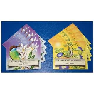 (X100) 2009-A Singapore Stamp Booklet: Flora Fauna 2v NVI Self-Adhesive