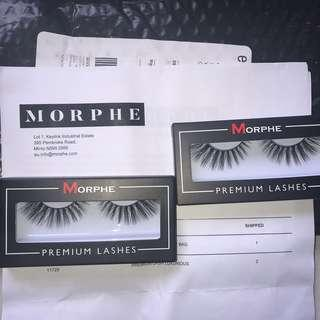 2 x Morphe eyelashes in luxurious