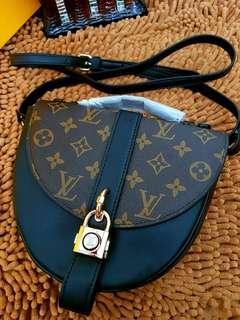 LV Heart Shape Sling Bag (Black)