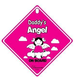 Buy 1 Free 1 Eoraha Air Freshener Car Sign - Daddy's Angel