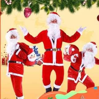 IN STOCK Santa Clause Costume Christmas costume