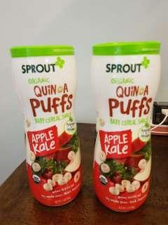 Sprout Organic Quinoa Puffs Cereal Snack