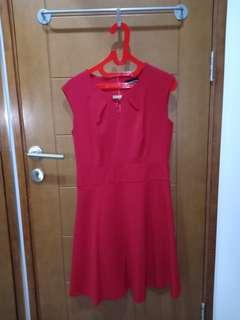 Executive red dress