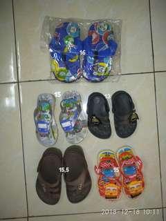 Take All Dapat 5 Sepatu Sendal Anak Laki Thomas Baru