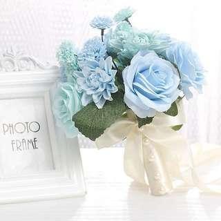 結婚花球 tiffany blue big day flower bouquet wedding