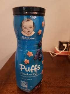 🚚 Gerber Puffs Cereal Snack Blueberry