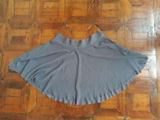 Gray Pull On Mesh Ballet Skirt